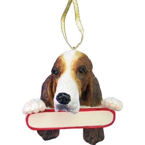 Basset Hound Santa's Pal Christmas Ornament