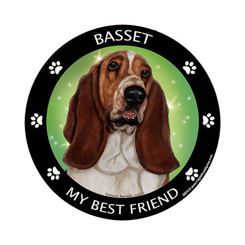 Basset Hound My Best Friend Dog Breed Magnet