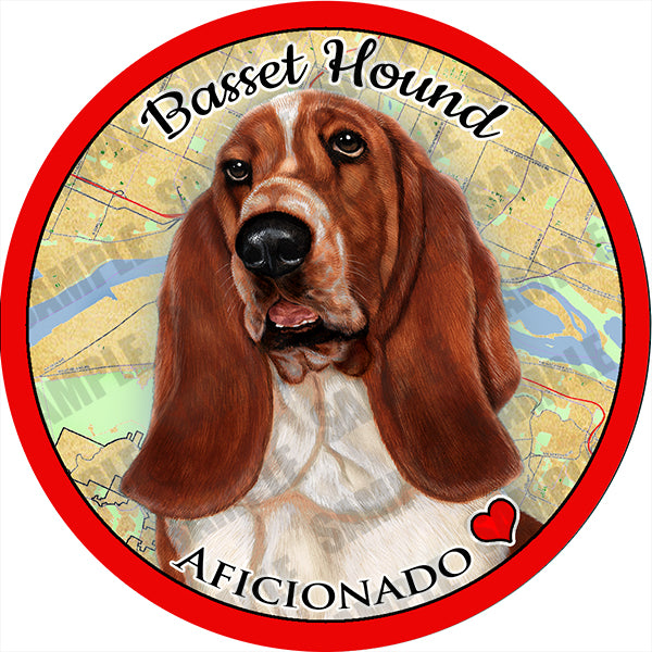 Basset Hound Absorbent Porcelain Dog Breed Car Coaster