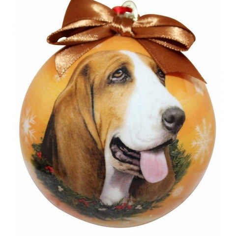 Basset Hound Shatterproof Dog Christmas Ornament
