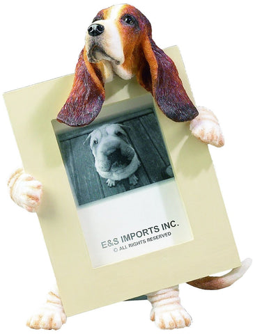 Basset Hound Dog Picture Frame Holder