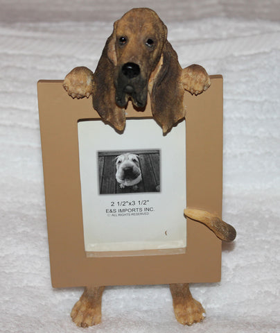 Bloodhound Dog Picture Frame Holder