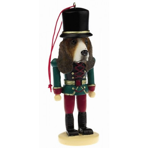 basset hound dog toy soldier nutcracker christmas ornament - Nutcracker Christmas Ornaments