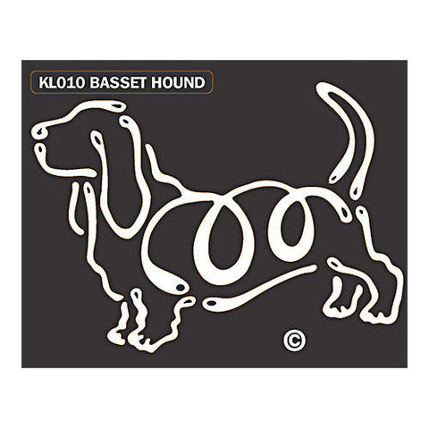 K Line Basset Hound Dog Window Decal Tattoo