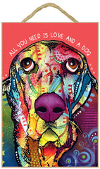 Basset Hound All You Need Is Love And A Dog Dean Russo Wood Dog Sign