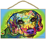 Beagle All You Need Is Love And A Dog Dean Russo Wood Dog Sign