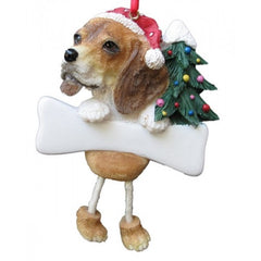 Dangling Leg Beagle Christmas Ornament