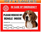 Beagle Emergency Window Cling