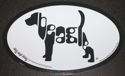 Beagle Euro Dog Breed Car Sticker Decal