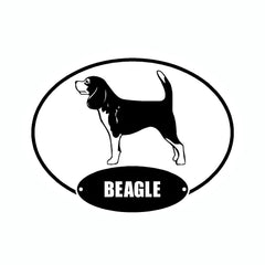 Beagle Euro Vinyl Dog Car Sticker