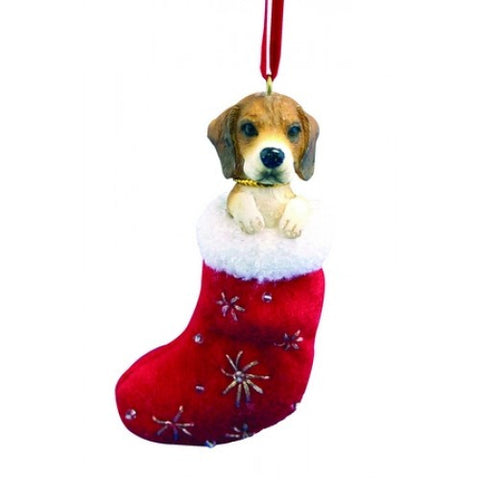Santa's Little Pals Beagle Dog Christmas Ornament