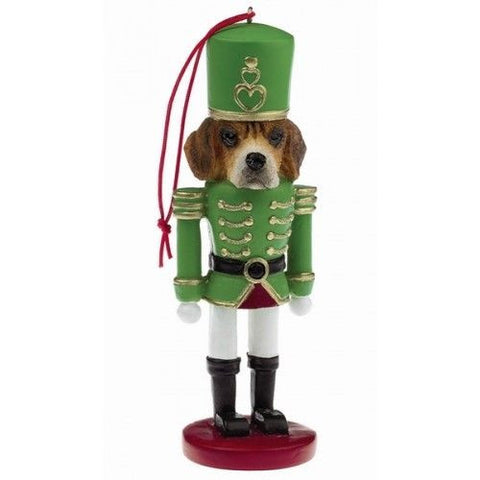 Beagle Dog Toy Soldier Nutcracker Christmas Ornament