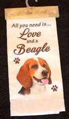 Beagle Dish Towel