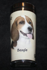 Beagle Stainless Steel Travel Tumbler