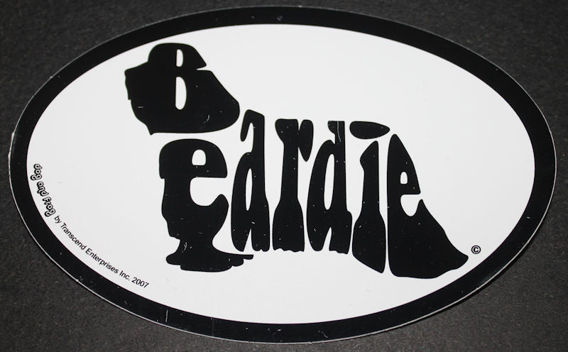 Bearded Collie Beardie Euro Dog Breed Car Sticker Decal