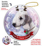 Bedlington Terrier Blue Howliday Dog Christmas Ornament