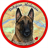 Belgian Malinois Absorbent Porcelain Dog Breed Car Coaster