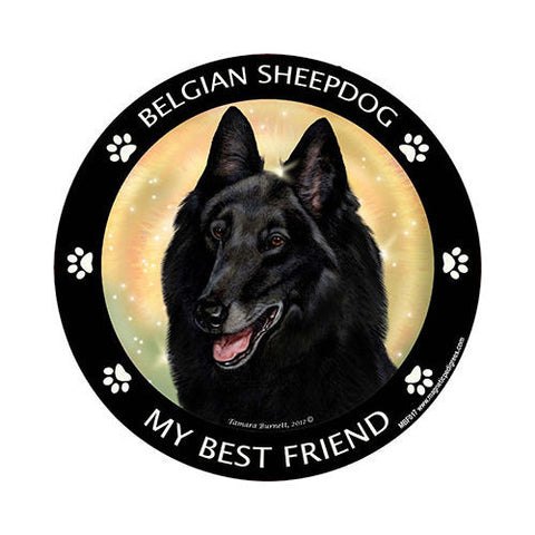 Belgian Sheepdog My Best Friend Dog Breed Magnet