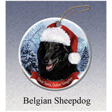 Belgian Shepherd Howliday Dog Christmas Ornament