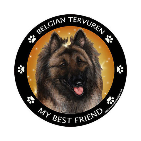 Belgian Tervuren My Best Friend Dog Breed Magnet