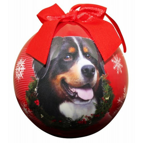 Bernese Mountain Dog Shatterproof Dog Christmas Ornament