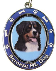 Bernese Mountain Dog Spinning Keychain