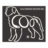 K Line Bernese Mountain Dog Window Decal Tattoo