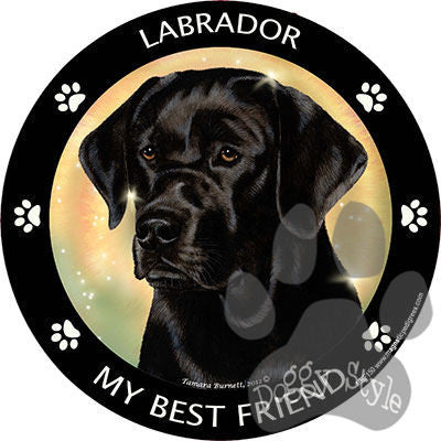 Black Labrador My Best Friend Dog Breed Magnet