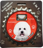 Bichon Frise Dog Bottle Ninja Stainless Steel Opener Magnet