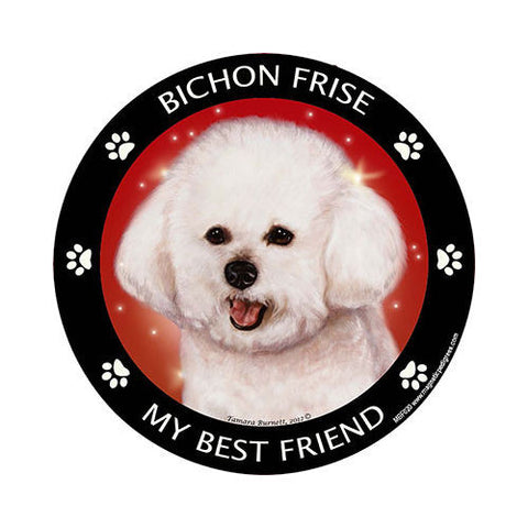Bichon Frise My Best Friend Dog Breed Magnet