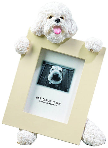 Bichon Frise Dog Picture Frame Holder