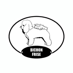 Bichon Frise Euro Vinyl Dog Car Sticker