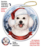 Bichon Frise Howliday Dog Christmas Ornament