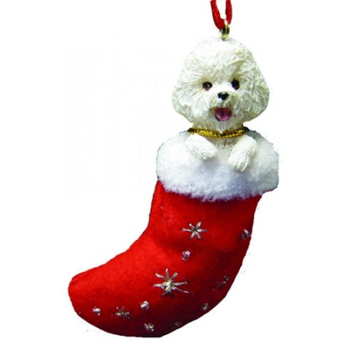 Santa's Little Pals Bichon Frise Dog Christmas Ornament