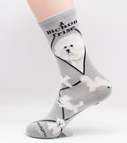 Bichon Frise Assorted Dog Breed Novelty Socks