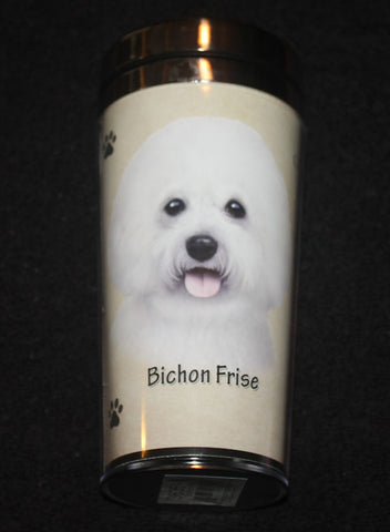 Bichon Frise Stainless Steel Travel Tumbler