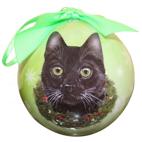 Black Cat Breed Shatterproof Christmas Ornament