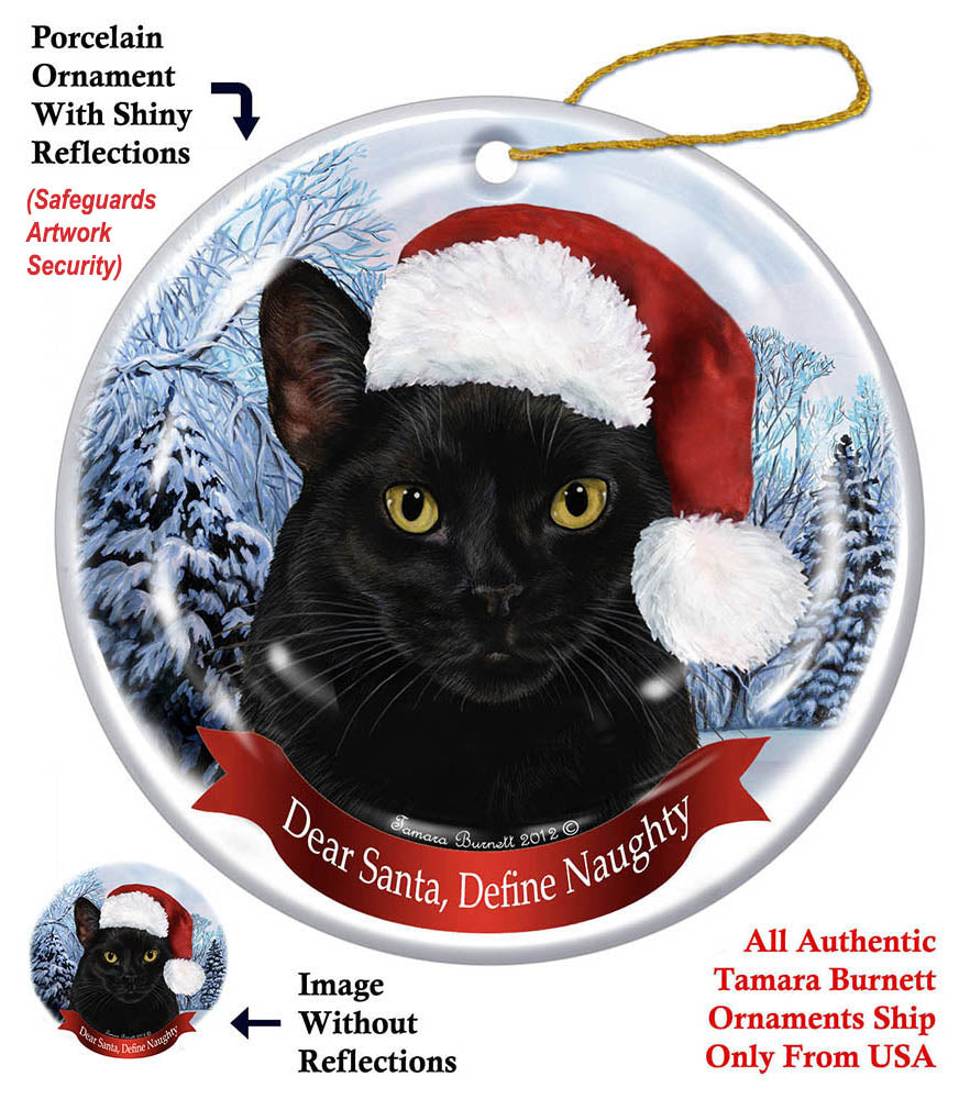 Black Cat Howliday Cat Christmas Ornament