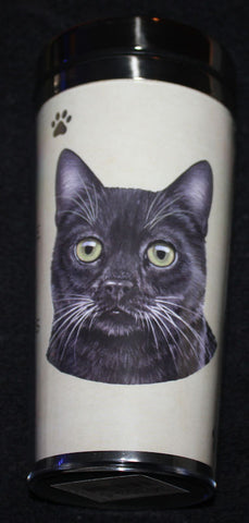 Black Cat Stainless Steel Travel Tumbler