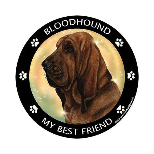 Bloodhound My Best Friend Dog Breed Magnet