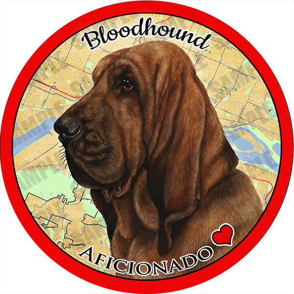 Bloodhound Absorbent Porcelain Dog Breed Car Coaster