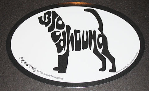 Bloodhound Euro Dog Breed Car Sticker Decal