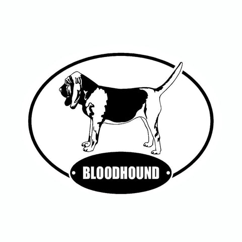 Bloodhound Euro Vinyl Dog Car Sticker