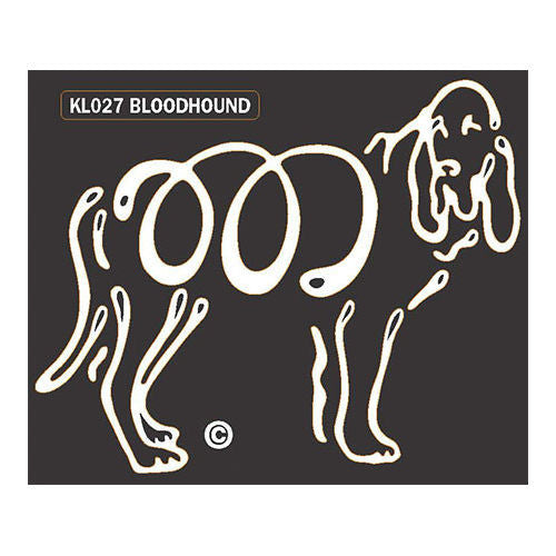 K Line Bloodhound Dog Window Decal Tattoo