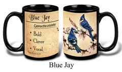 Blue Jay Bird Faithful Friends Coffee Mug