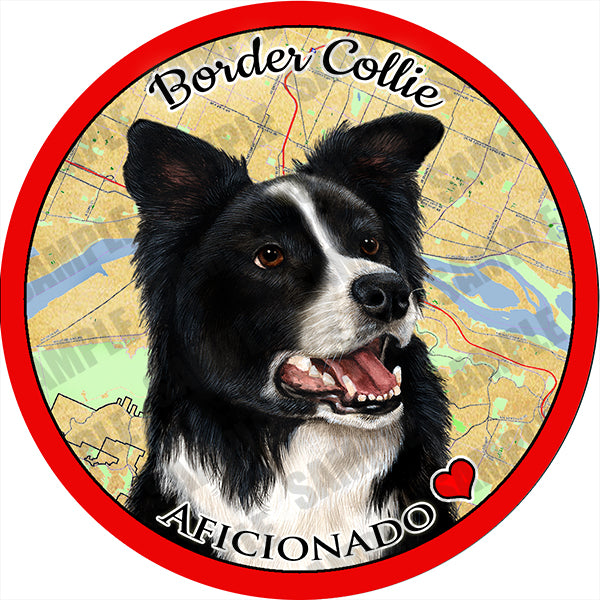 Border Collie Absorbent Porcelain Dog Breed Car Coaster