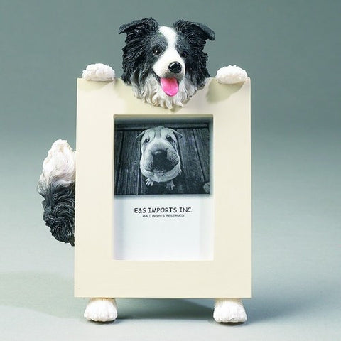 Border Collie Dog Picture Frame Holder