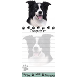 Border Collie List Stationery Notepad