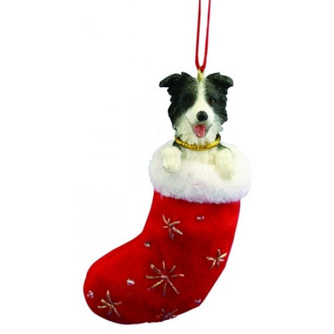 Santa's Little Pals Border Collie Dog Christmas Ornament