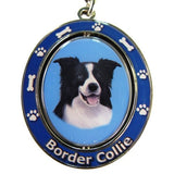 Border Collie Dog Spinning Keychain